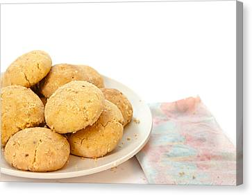 Moroccan Biscuits Canvas Print by Tom Gowanlock