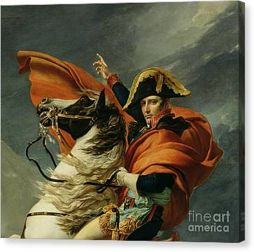 Napoleon Crossing The Alps On 20th May 1800 Canvas Print by Jacques Louis David