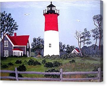 Nauset Lighthouse Painting Canvas Print by Frederic Kohli