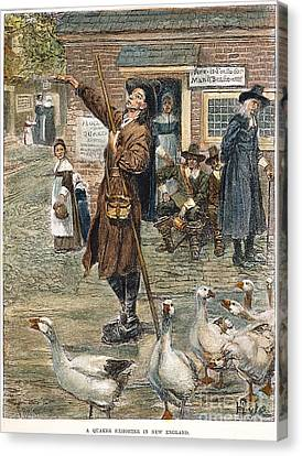 New England: Quaker, 1660 Canvas Print by Granger