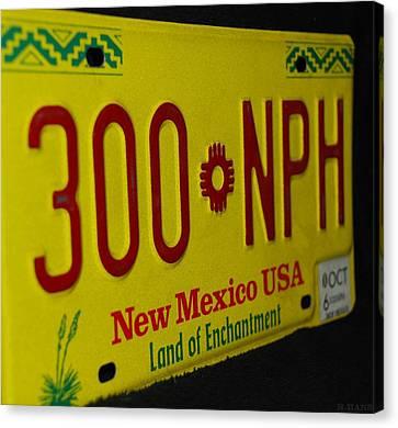 New Mexico Tag Canvas Print by Rob Hans
