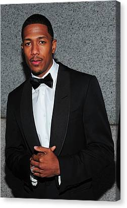 Nick Cannon At Arrivals For Operation Canvas Print by Everett