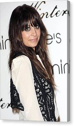 Nicole Richie At In-store Appearance Canvas Print by Everett