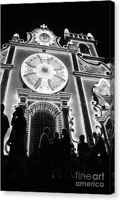 Nighttime Religious Celebrations Canvas Print by Gaspar Avila