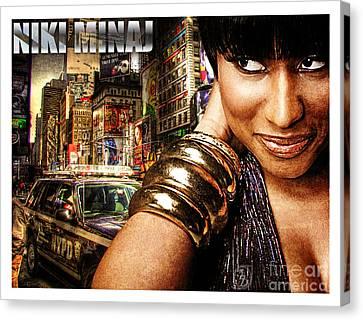 Niki Minaj Canvas Print by The DigArtisT