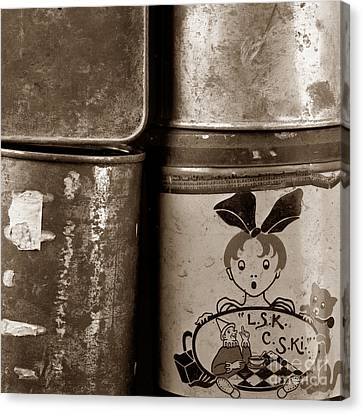 Old Fashioned Iron Boxes. Canvas Print by Bernard Jaubert