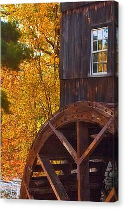 Old Mill Canvas Print by Joann Vitali