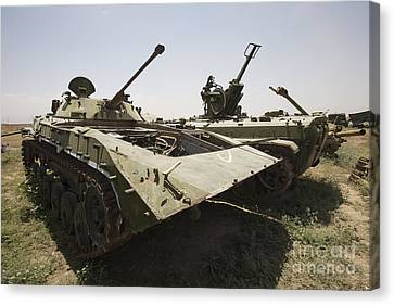 Old Russian Bmp-1 Infantry Fighting Canvas Print by Terry Moore