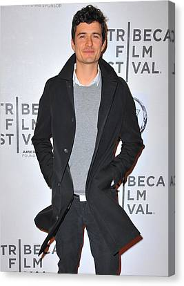 Orlando Bloom At Arrivals For The Good Canvas Print by Everett