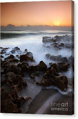 Overwhelmed By The Sea Canvas Print by Mike  Dawson