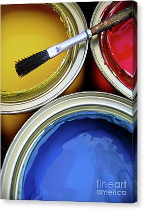 Paint Cans Canvas Print by Carlos Caetano