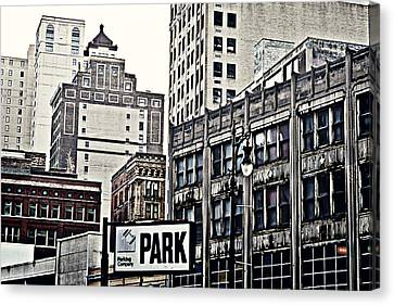 Park Detroit Canvas Print by Alanna Pfeffer