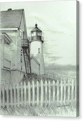 Pemaquid Lighthouse  Canvas Print by Jack Skinner