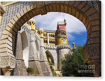 Pena Palace Canvas Print by Carlos Caetano