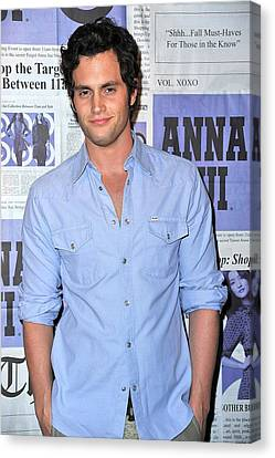 Penn Badgley At Arrivals Canvas Print by Everett