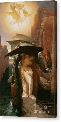 Perseus And Andromeda Canvas Print by Frederic Leighton
