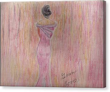 Pink Lady Canvas Print by Mary Potts