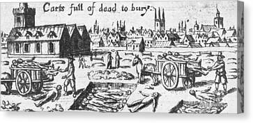Plague, 1665 Canvas Print by Science Source