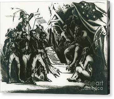 Political Cartoon Of The Confederacy Canvas Print by Photo Researchers