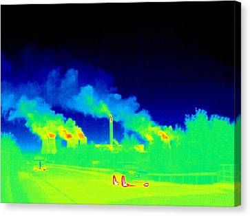 Power Station, Thermogram Canvas Print by Tony Mcconnell