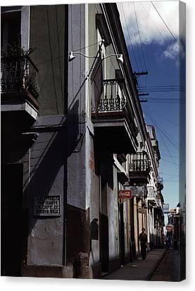 Puerto Rico. Street In San Juan, Puerto Canvas Print by Everett