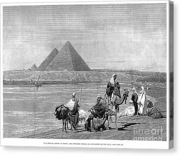 Pyramids At Giza, 1882 Canvas Print by Granger