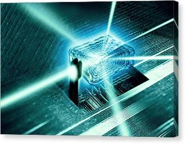 Quantum Computer Core Canvas Print by Richard Kail
