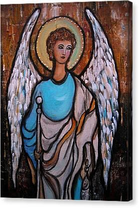 Raphael Archangel Canvas Print by Pristine Cartera Turkus
