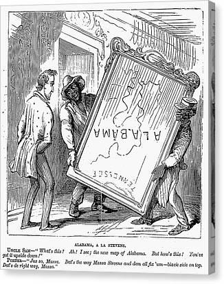 Reconstruction Cartoon Canvas Print by Granger
