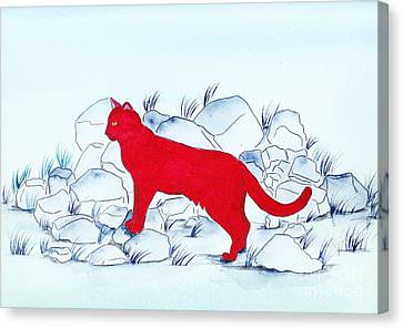 Red Cat Canvas Print by Michaela Bautz