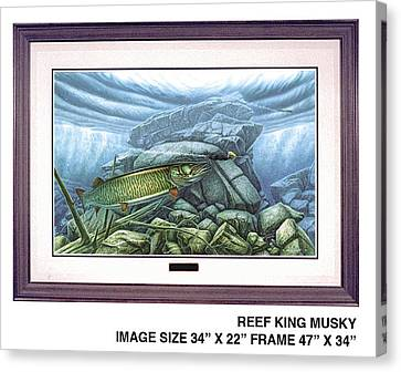 Reef King Musky Canvas Print by JQ Licensing
