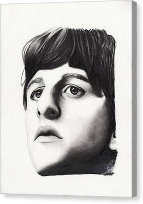 Ringo Starr Canvas Print by Rosalinda Markle