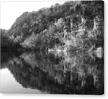 River Reflection Canvas Print by Paul Roger Ballard