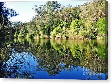 River Reflections Canvas Print by Kaye Menner