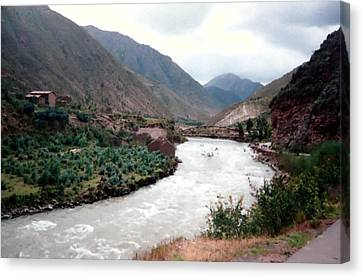 River Urubamba Through The Sacred Valley Of The Incas Canvas Print by Ronald Osborne