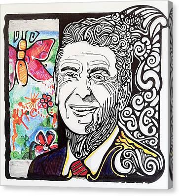 Ronald Reagan - Berlin Wall Canvas Print by Ben Gormley