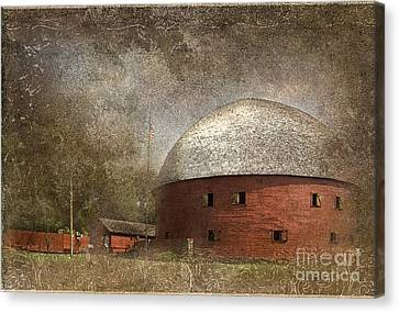 Route 66 Round Barn Canvas Print by Betty LaRue
