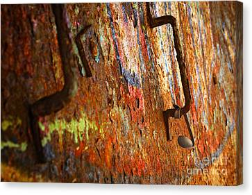 Rust Background Canvas Print by Carlos Caetano
