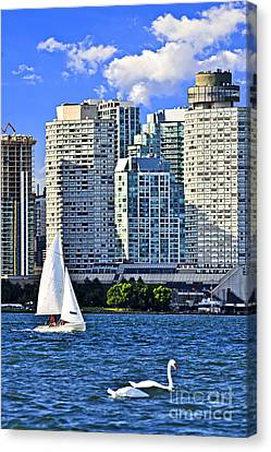 Sailing In Toronto Harbor Canvas Print by Elena Elisseeva