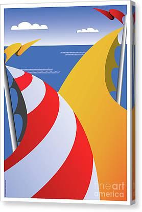 Sails Canvas Print by Joe Barsin