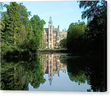 Schloss Loppem Loppem Belgium Canvas Print by Joseph Hendrix