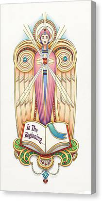 Scroll Angel - Ionica Canvas Print by Amy S Turner