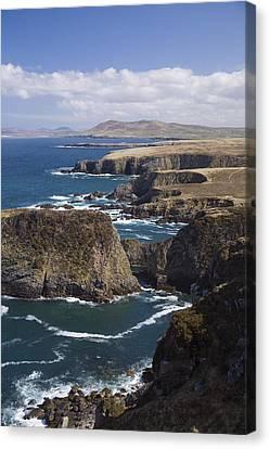 Sea Cliffs And Coastline Near Erris Canvas Print by Gareth McCormack