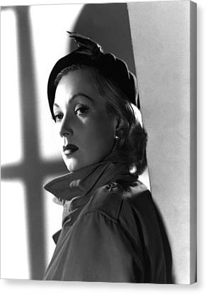 Shadow On The Wall, Ann Sothern, 1950 Canvas Print by Everett