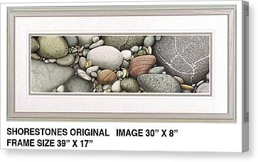 Shore Stones Canvas Print by JQ Licensing