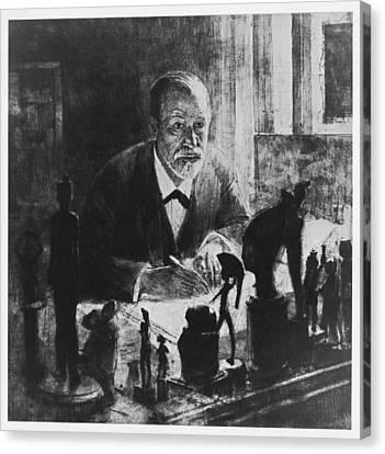 Sigmund Freud, Austrian Psychologist Canvas Print by Humanities & Social Sciences Librarynew York Public Library