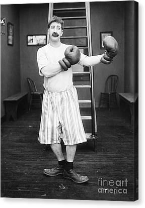 Silent Film Still: Boxing Canvas Print by Granger