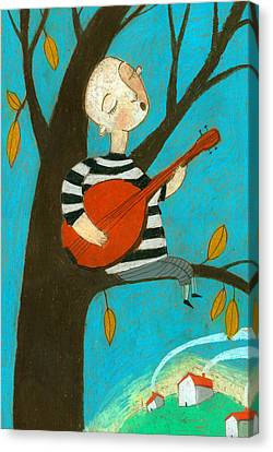 Singing Song Canvas Print by Jenny Meilihove