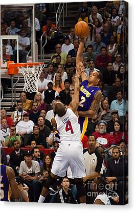 Slam Dunk Canvas Print by Eddie Yerkish