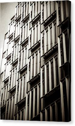 Slatted Window Architecture Canvas Print by Lenny Carter